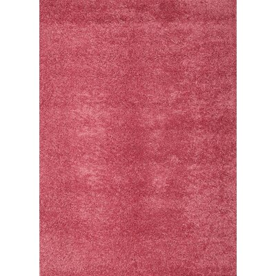 Justine Pink Area Rug Rug Size: 53 x 76