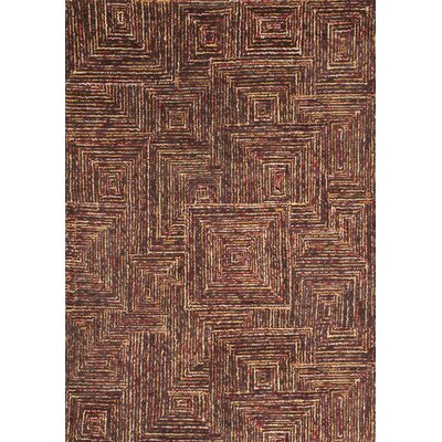 Lifestyle Tipton Hand Tufted Wool Dark Brown Area Rug Rug Size: 5 x 8