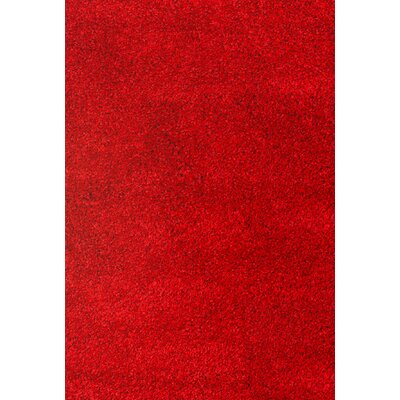 Lionel Red Area Rug Rug Size: 79 x 106