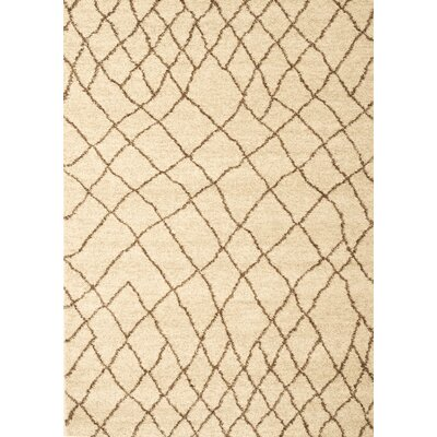 Haverstraw Ivory/Brown Area Rug Rug Size: 710 x 112