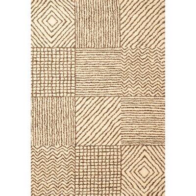 Boulton Ivory/Chocolate Area Rug Rug Size: 5'3