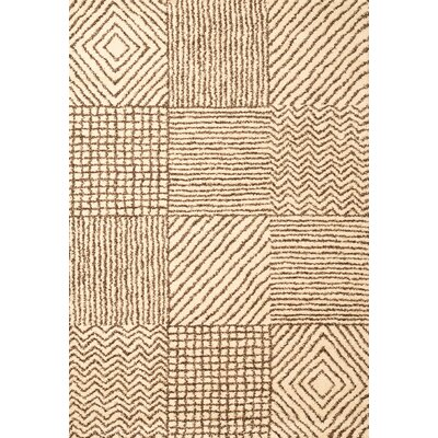 Boulton Ivory/Chocolate Area Rug Rug Size: 53 x 76