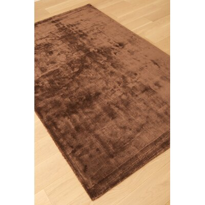 Lippold Hand Tufted Wool and Silk Chocolate Area Rug Rug Size: Rectangle 5 x 8