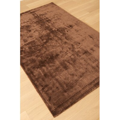 Lippold Hand Tufted Wool and Silk Chocolate Area Rug Rug Size: Rectangle 8 x 10