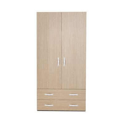 2 Door Armoire with Drawers Finish Essential Oak Light