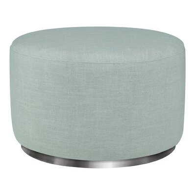 Tuba Ottoman Upholstery: Seafoam