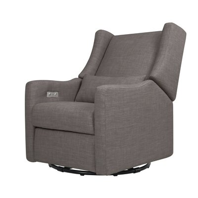 Kiwi Electric Glider Recliner Upholstery: Gray Tweed