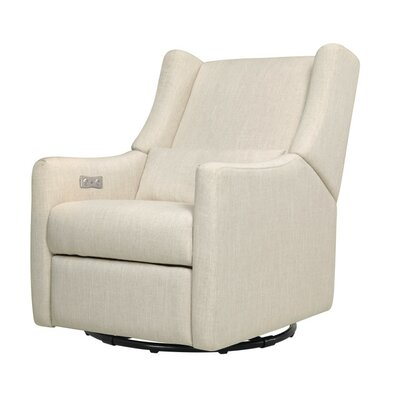 Kiwi Electric Glider Recliner Upholstery: White Linen