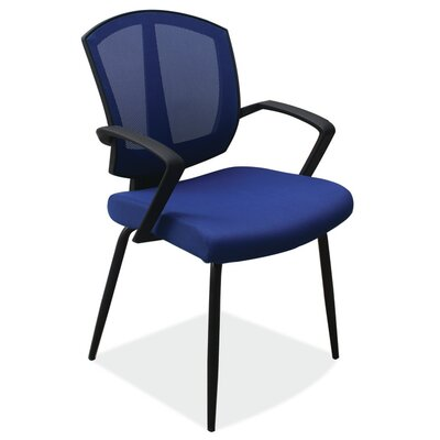 Sprint Side Chair with Arms Color: Blue