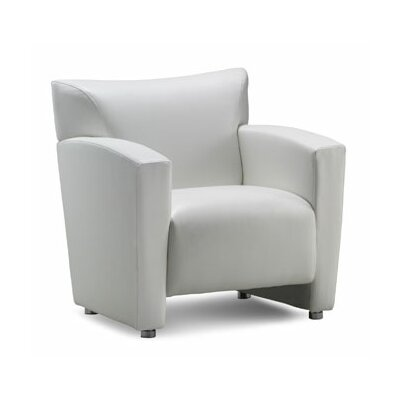 Tribeca Leather Chair Color: White
