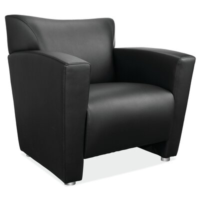 Tribeca Leather Chair Color: Black