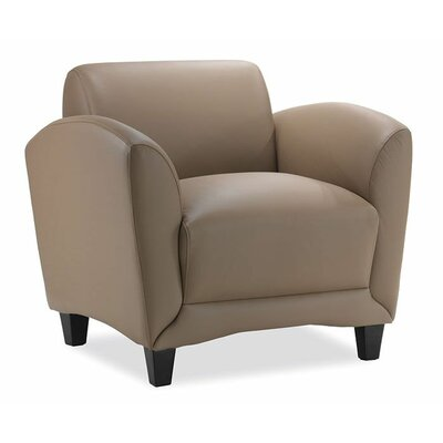 Manhattan Leather Chair Color: Latte