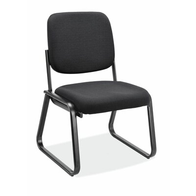 Value Sled Base Guest Chair Seat Color: Ebony Fabric, Arm: Yes