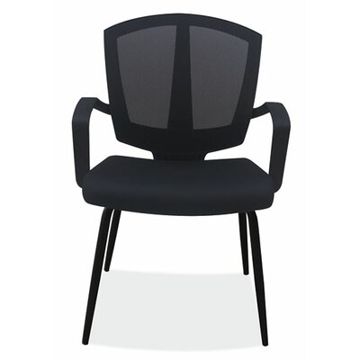 Sprint Side Chair with Arms Color: Black