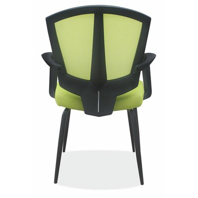 Sprint Side Chair with Arms Color: Green