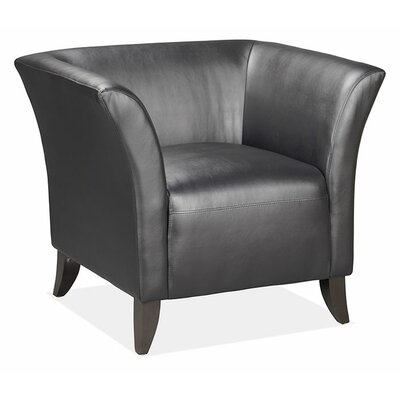 Scottsdale Leather Chair Color: Black