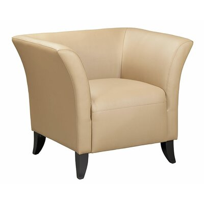 Scottsdale Leather Chair Color: Latte