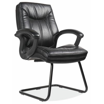 Whistler Sled Base Leather Guest Chair Color: Black