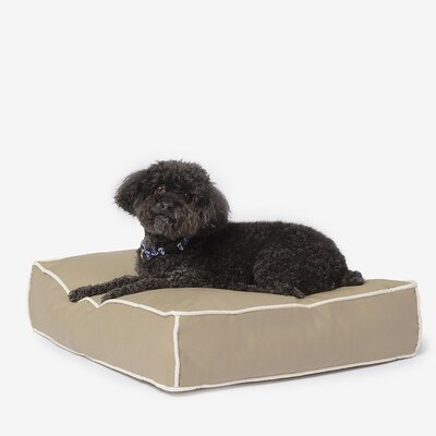 Benny Basic Square Dog Bed Size: Medium, Color: Khaki