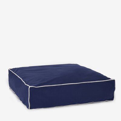 Benny Basic Square Dog Bed Size: Large, Color: Indigo Blue