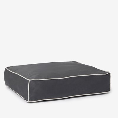Benny Basic Square Dog Bed Size: Large, Color: Charcoal Gray