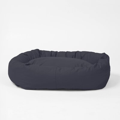 Norridge Snuggle Dog Bed Size: Large, Color: Charcoal Gray