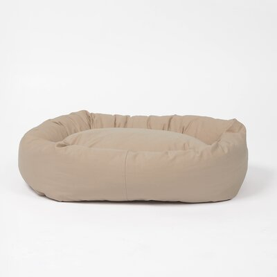 Norridge Snuggle Dog Bed Size: Large, Color: Khaki
