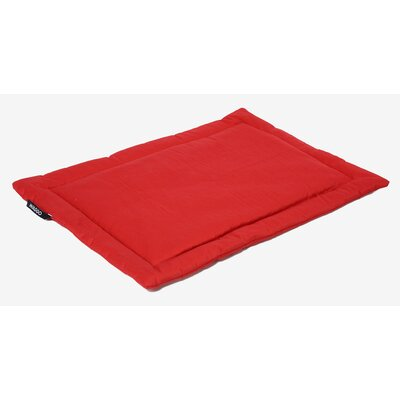 Dog Mat Size: Small (19.75 W x 26 L), Color: Cherry