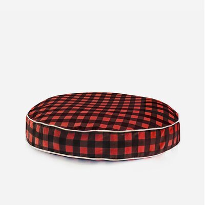 Dog Pillow Size: Medium, Color: Red