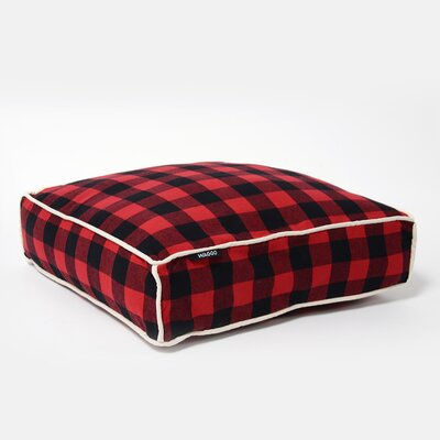 Buffalo Square Pillow Size: Large (33 W x 35 D), Color: Red