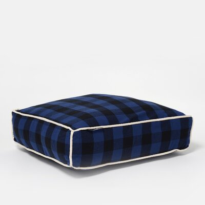 Buffalo Square Pillow Size: Small (21 W x 23 D), Color: Indigo