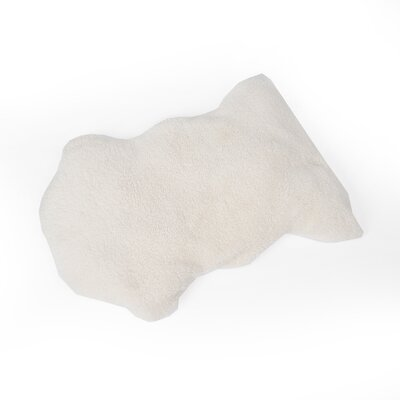 Pop Plush Lounge Mat Dog Bed Size: Small, Color: Cream