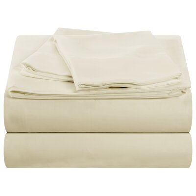 Cocona 400 Thread Count Sheet Set Size: King, Color: Ivory