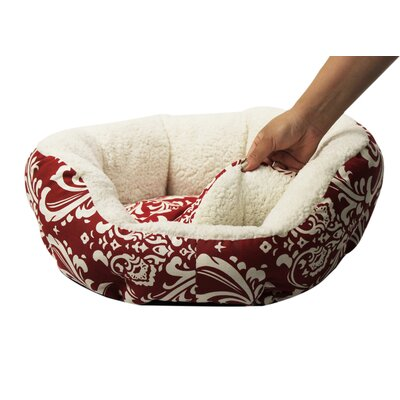 Cuddler Duchess Bolster Dog Bed Color: Red, Size: Medium (20 L x 20 W)