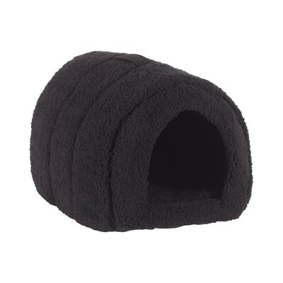 Pet Furniture Pet Igloo Hooded Color: Black
