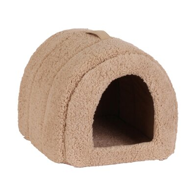 Pet Furniture Pet Igloo Hooded Color: Beige