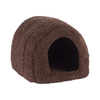 Pet Furniture Pet Igloo Hooded Color: Brown