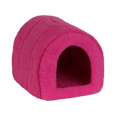 Pet Furniture Pet Igloo Hooded Color: Fushia