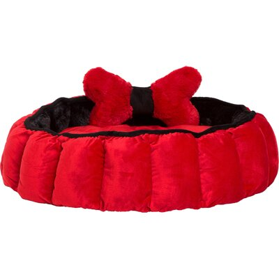 Royal Cuddler Red Velvet Dog Bed