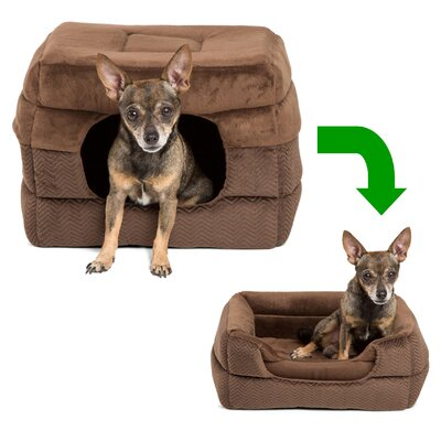 Flair 2-in-1 Pet Cube Cuddler Size: Medium (15 L x 15 W)