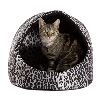 Doggy/Kitty Hut Bed Color: Black Leopard Print