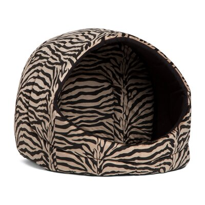 Doggy/Kitty Hut Bed Color: Brown Zebra Print