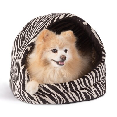 Doggy/Kitty Hut Bed Color: Black Zebra Print