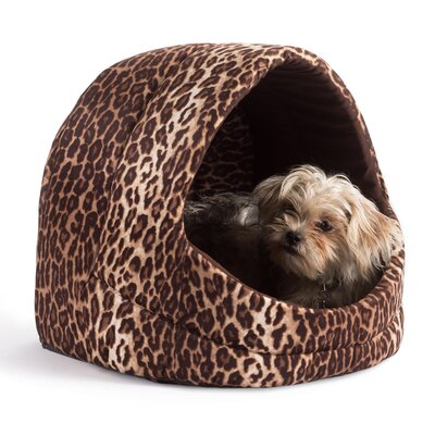 Pet Cave Zoo Cat/Dog Bed Color: Brown Leopard Print