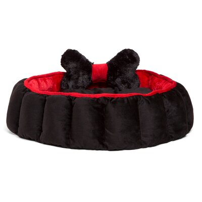 Cuddler Velvet Royal Nest Dog Bed Color: Black