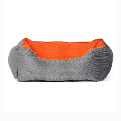 Corded Bumper Flair Bolster Color: Graphite/Pumpkin