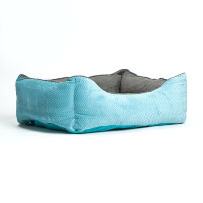 Corded Bumper Flair Bolster Color: Turquoise/Graphite