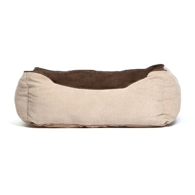 Rectangular Bumper Dog Bolster Color: Wheat/Dark Chocolate
