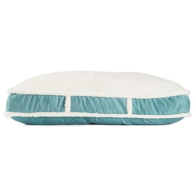 Standard Dog Bed with Suede Fur Top Color: Tide Pool