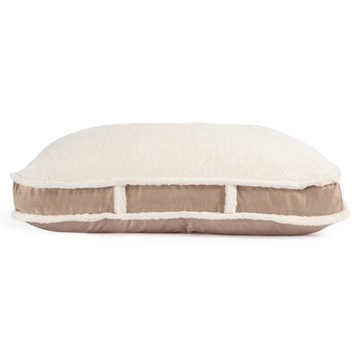 Standard Dog Bed with Suede Fur Top Color: Wheat